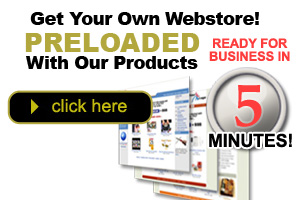 Get your own web store preloaded with products in minutes!